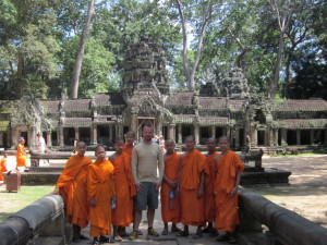 Angkor with Monks